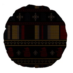 Tardis Doctor Who Ugly Holiday Large 18  Premium Round Cushions