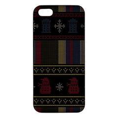 Tardis Doctor Who Ugly Holiday Apple Iphone 5 Premium Hardshell Case