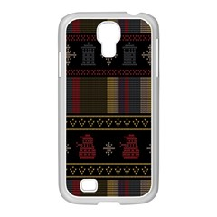 Tardis Doctor Who Ugly Holiday Samsung GALAXY S4 I9500/ I9505 Case (White)