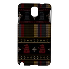 Tardis Doctor Who Ugly Holiday Samsung Galaxy Note 3 N9005 Hardshell Case
