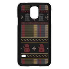 Tardis Doctor Who Ugly Holiday Samsung Galaxy S5 Case (Black)