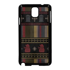 Tardis Doctor Who Ugly Holiday Samsung Galaxy Note 3 Neo Hardshell Case (Black)