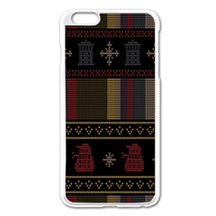 Tardis Doctor Who Ugly Holiday Apple iPhone 6 Plus/6S Plus Enamel White Case