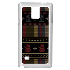Tardis Doctor Who Ugly Holiday Samsung Galaxy Note 4 Case (White)