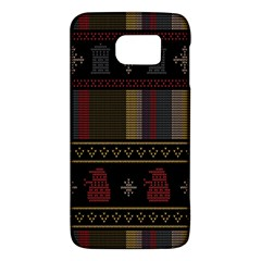 Tardis Doctor Who Ugly Holiday Galaxy S6