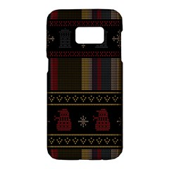 Tardis Doctor Who Ugly Holiday Samsung Galaxy S7 Hardshell Case