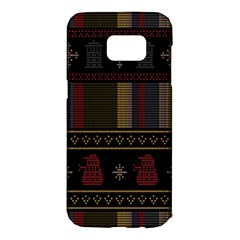 Tardis Doctor Who Ugly Holiday Samsung Galaxy S7 Edge Hardshell Case