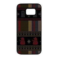 Tardis Doctor Who Ugly Holiday Samsung Galaxy S7 edge Black Seamless Case