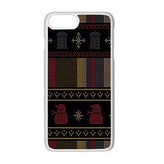 Tardis Doctor Who Ugly Holiday Apple iPhone 7 Plus Seamless Case (White)