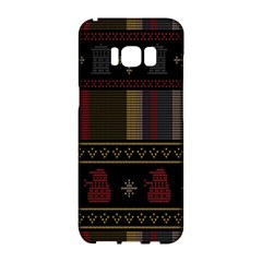 Tardis Doctor Who Ugly Holiday Samsung Galaxy S8 Hardshell Case