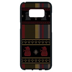 Tardis Doctor Who Ugly Holiday Samsung Galaxy S8 Black Seamless Case