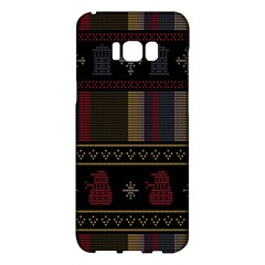 Tardis Doctor Who Ugly Holiday Samsung Galaxy S8 Plus Hardshell Case