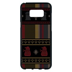 Tardis Doctor Who Ugly Holiday Samsung Galaxy S8 Plus Black Seamless Case