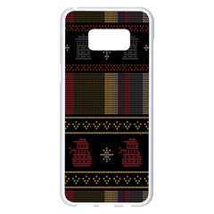 Tardis Doctor Who Ugly Holiday Samsung Galaxy S8 Plus White Seamless Case