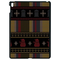 Tardis Doctor Who Ugly Holiday Apple iPad Pro 9.7   Black Seamless Case