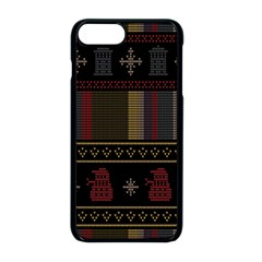Tardis Doctor Who Ugly Holiday Apple iPhone 8 Plus Seamless Case (Black)