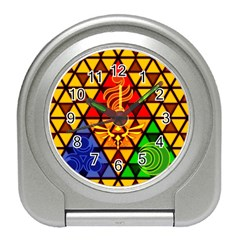 The Triforce Stained Glass Travel Alarm Clocks