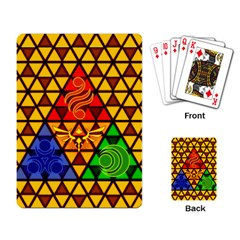The Triforce Stained Glass Playing Card by Samandel