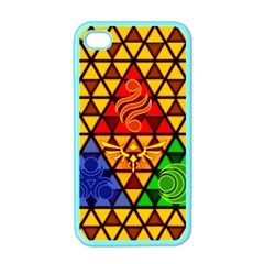 The Triforce Stained Glass Apple Iphone 4 Case (color)