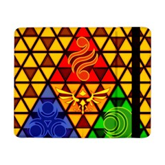 The Triforce Stained Glass Samsung Galaxy Tab Pro 8 4  Flip Case by Samandel