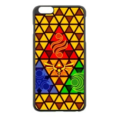 The Triforce Stained Glass Apple Iphone 6 Plus/6s Plus Black Enamel Case