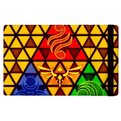 The Triforce Stained Glass Apple Ipad Pro 9 7   Flip Case