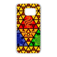 The Triforce Stained Glass Samsung Galaxy S7 White Seamless Case