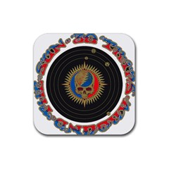 The Grateful Dead Rubber Square Coaster (4 Pack)