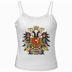 Imperial Coat Of Arms Of Austria Hungary  White Spaghetti Tank