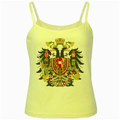 Imperial Coat Of Arms Of Austria Hungary  Yellow Spaghetti Tank