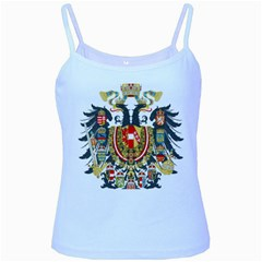 Imperial Coat Of Arms Of Austria Hungary  Baby Blue Spaghetti Tank