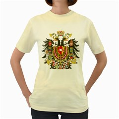 Imperial Coat Of Arms Of Austria Hungary  Women s Yellow T Shirt