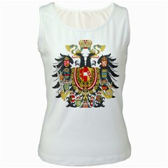 Imperial Coat Of Arms Of Austria Hungary  Women s White Tank Top