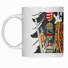 Imperial Coat Of Arms Of Austria Hungary  White Mugs