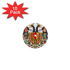 Imperial Coat Of Arms Of Austria Hungary  1  Mini Buttons (10 Pack)