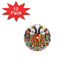 Imperial Coat Of Arms Of Austria Hungary  1  Mini Magnet (10 Pack)