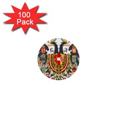 Imperial Coat Of Arms Of Austria Hungary  1  Mini Buttons (100 Pack)