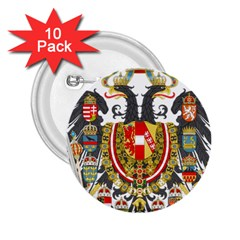 Imperial Coat Of Arms Of Austria Hungary  2 25  Buttons (10 Pack)