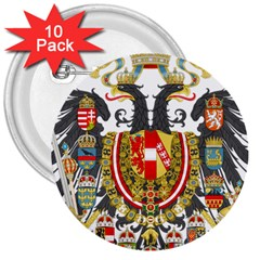 Imperial Coat Of Arms Of Austria Hungary  3  Buttons (10 Pack)