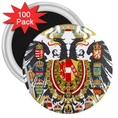Imperial Coat Of Arms Of Austria Hungary  3  Magnets (100 Pack)