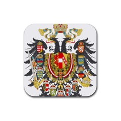 Imperial Coat Of Arms Of Austria Hungary  Rubber Square Coaster (4 Pack)