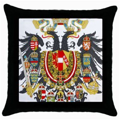 Imperial Coat Of Arms Of Austria Hungary  Throw Pillow Case (black)