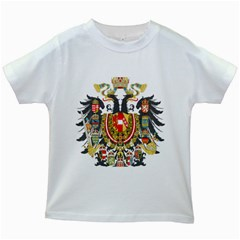 Imperial Coat Of Arms Of Austria Hungary  Kids White T Shirts
