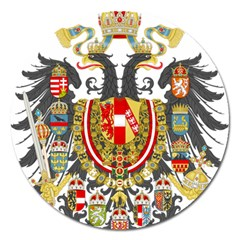 Imperial Coat Of Arms Of Austria Hungary  Magnet 5  (round)