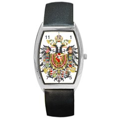 Imperial Coat Of Arms Of Austria Hungary  Barrel Style Metal Watch