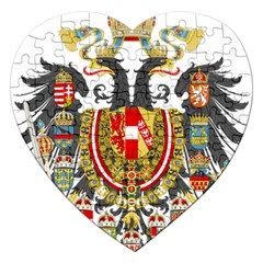 Imperial Coat Of Arms Of Austria Hungary  Jigsaw Puzzle (heart)
