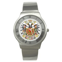 Imperial Coat Of Arms Of Austria Hungary  Stainless Steel Watch