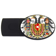Imperial Coat Of Arms Of Austria Hungary  Usb Flash Drive Oval (4 Gb)