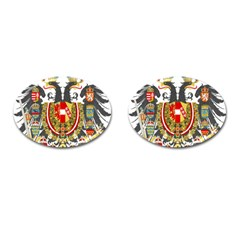 Imperial Coat Of Arms Of Austria Hungary  Cufflinks (oval)