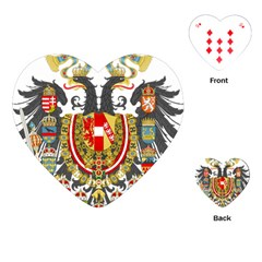 Imperial Coat Of Arms Of Austria Hungary  Playing Cards (heart)